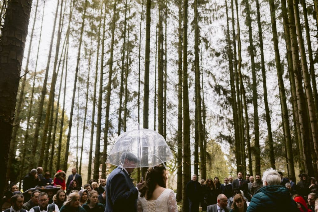 Friars Carse Country House outdoor wedding ceremony
